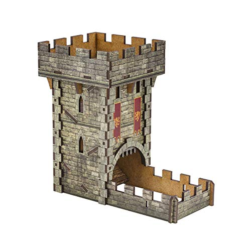 Q Workshop Medieval Color Dice Tower for Dice Rolling