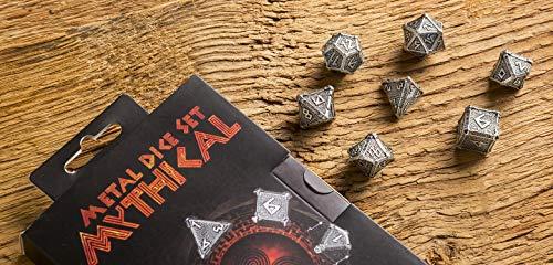 Q Workshop Metal Mythical 7 Polyhedral Ornamented Dice Set