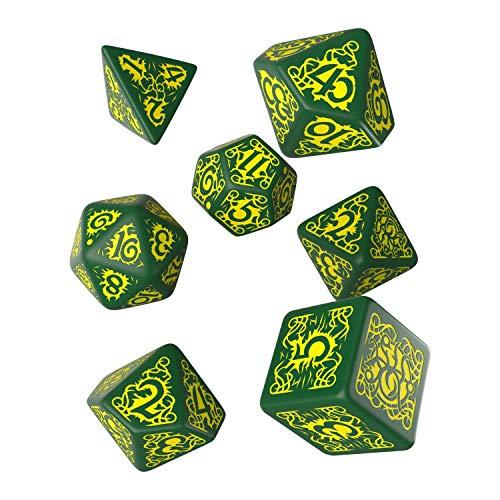 Q Workshop Pathfinder Strange Aeons RPG Ornamented Dice Set 7 Polyhedral Pieces