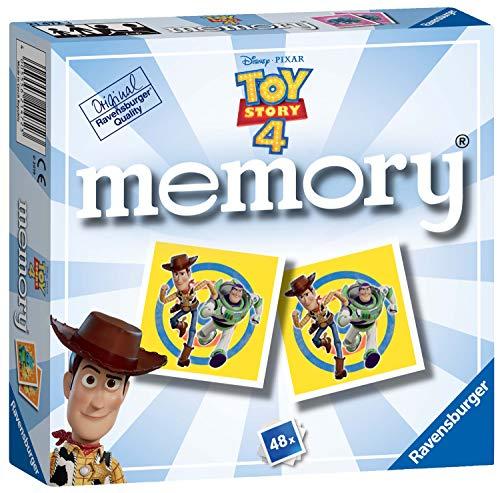 Ravensburger-21472 Ravensburger Disney Toy Story 4 Mini Memoria para niños a Partir de 3 años clásico a Juego de Pares, Multicolor (21472) , color/modelo surtido