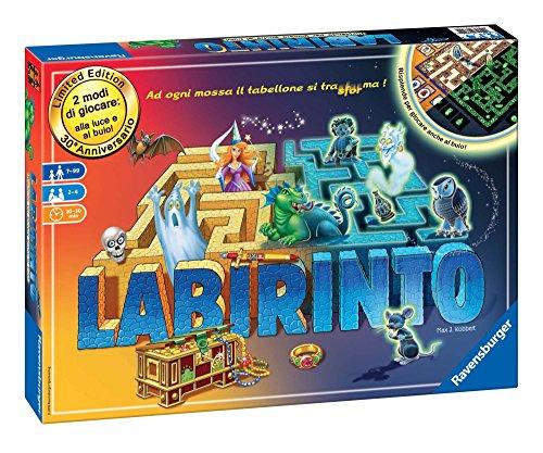 Ravensburger Labirinto Glow in the Dark Niños y adultos Viajes/aventuras - Juego de tablero (Viajes/aventuras, Niños y adultos, 20 min, 30 min, Niño/niña, 7 año(s)) , color/modelo surtido