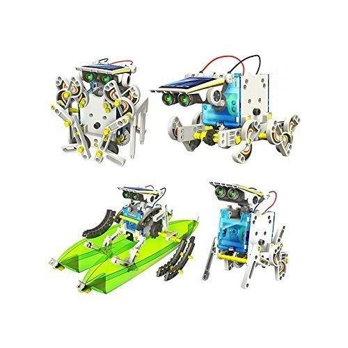 RCTecnic Kit de Robótica Solar Para Niños,13 Robots en 1, Kit de Construcción Robotica Educativa, Más de 80 Piezas Juguetes Educativos DIY Juguetes Baratos y Originales
