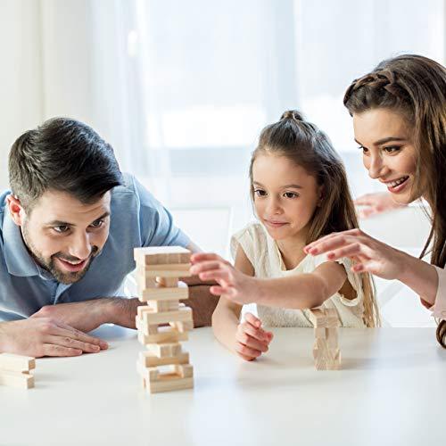 Relaxdays Juego Torre de Madera, 54 Bloques Apilables, para Niños y Adultos, Juguete Habilidad Divertido, Marrón, Color (10022792)
