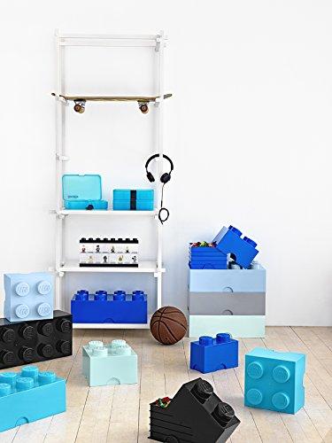 Room Copenhagen 40031743 Ladrillo de Almacenamiento de 4 espigas de Lego, Caja de almacenaje apilable, 5,7 l, Turquesa, Medium Azur