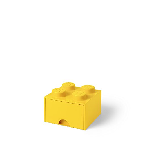 Room Copenhagen-Lego Ladrillo 4 pomos, 1 cajón, Caja de almacenaje apilable, 4,7l 40051732