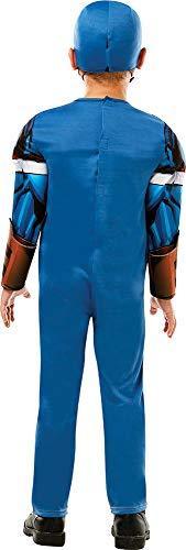 Rubies Disfraz oficial de Marvel Avengers Capitán América de lujo para niños, Color azul, small (640833S)