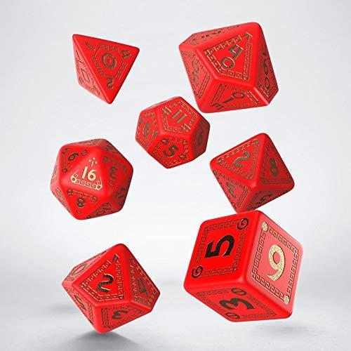 RuneQuest Dice Set Red & Gold (7) Workshop Board Games Accessories