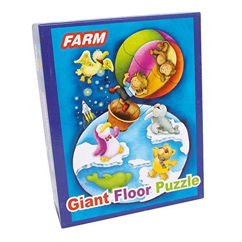 small foot company Puzzle Gigante Vuelta Al Mundo,48 Piezas