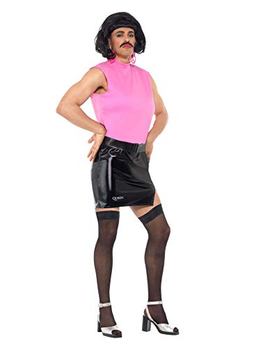 "Smiffys License Dress-up Disfraz de ama de casa de Queen Break Free, Color Rosa/Negro, M-Size 38""-40"" (Smiffy'S 43192M)"