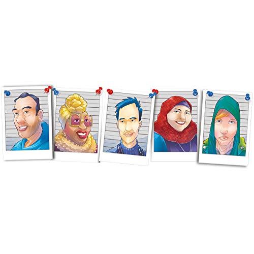 Sospechosos inusuales (Lúdilo) – Juego de Mesa cooperativo para Jugar en Familia o con amigosn Juegos de Mesa Familiares para Sacar a luz los prejuicios de la Gente