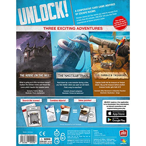 Space Cowboys ASMSCUNLOCK01EN Unlock Board Game
