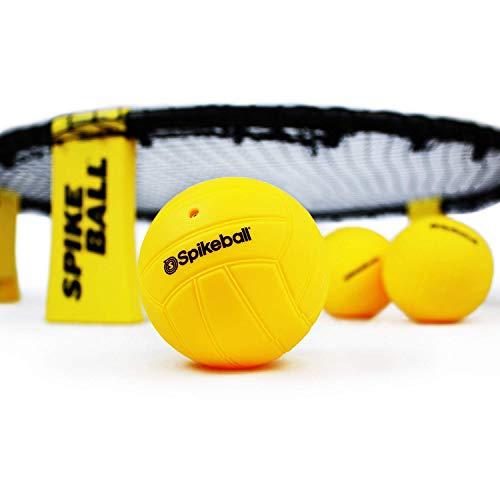 Spikeball - Juego de 3 Bolas - para Jugar al Aire Libre o a Cubierto, sobre el césped, en el Pista, la Playa, el Parque. Incluye 3 Bolas, Bolsa para transportarlo y Libro de Reglas.
