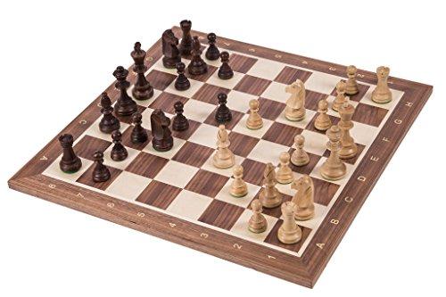 Square - Profesional Ajedrez de Madera Nº 6 - Italia - Tablero de ajedrez + Figuras - Staunton 6