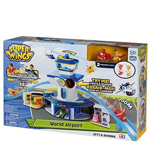 Super Wings - Aeropuerto Internacional Super Wings Jett & Donnie con luz & sonido (ColorBaby 43961)