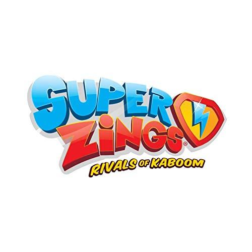Superzings - Serie 3 - Blíster 5 figuras (1 figura plateada y 4 figuras regulares) + 1 Superslider + 1 Super Rampa exclusiva , color/modelo surtido