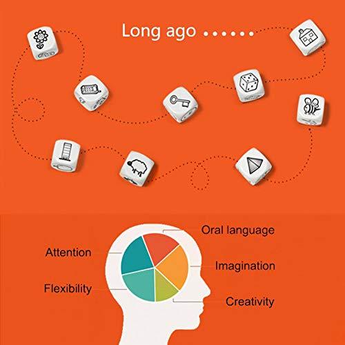 Teabelle Dados Aprendizaje Juguete Discurso Creativo Contar Historias Familia Padres Fiesta Divertido Imaginar Educación Juguetes para Niños Ejercicio Habilidades Lingüísticas