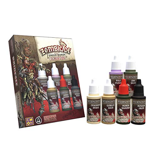 The Army Painter | Zombicide Colour Set for Green Horde | 6 Acrilic Colours | Black Plague e Miniature Model Painting