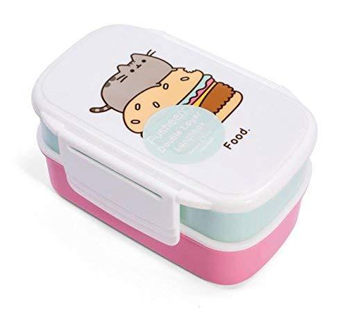 Thumbs Up Fiambrera Pusheen-Lunch Box Set-2 Recipientes + Tenedor y Cuchara, Rosa, 13 x 20 x 9.5 cm