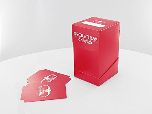 Ultimate Guard Deck´n´Tray Case 100+ Caja de Cartas Tamaño Estándar Rojo