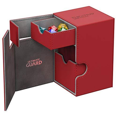 Ultimate Guard Flip´n´Tray Deck Case 100+ Caja de Cartas Tamaño Estándar XenoSkin Rojo