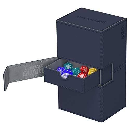 Ultimate Guard Twin Flip´n´Tray Deck Case 200+ Caja de Cartas Tamaño Estándar XenoSkin Azul