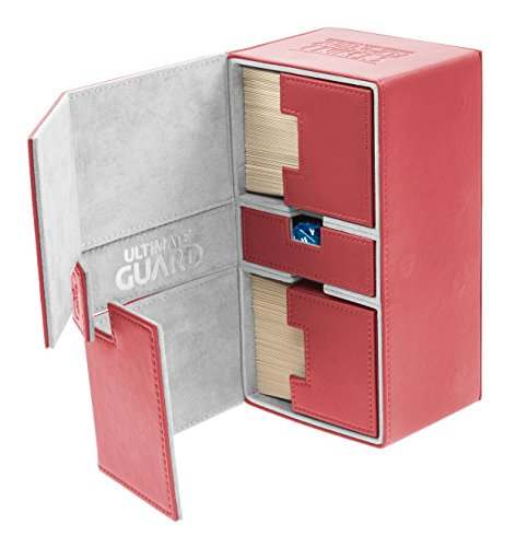 Ultimate Guard Twin Flip´n´Tray Deck Case 200+ Caja de Cartas Tamaño Estándar XenoSkin Rojo