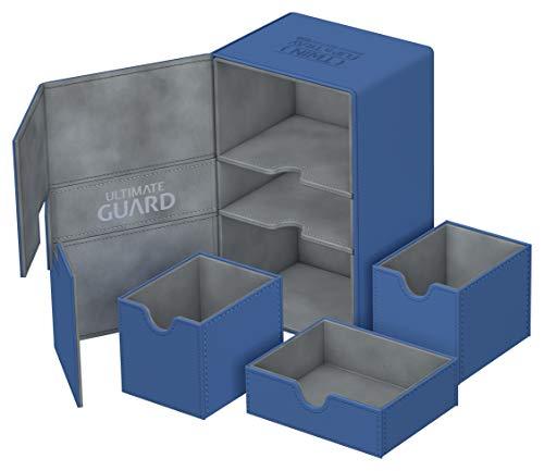 Ultimate Guard ugd010649 Twin Flip 'n 'Tray 160Plus Xenoskin Cubierta Caso, tamaño estándar, Color Azul