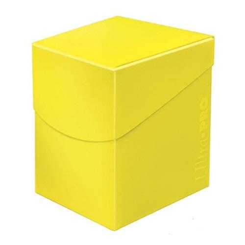 Ultra Pro 85690 Eclipse Pro 100+ Caja de Cubierta, Amarillo limón, color lemon yellow