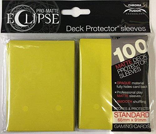 Ultra Pro UPR85608 Eclipse Standard Pro - Mangas Mate, Color Amarillo limón