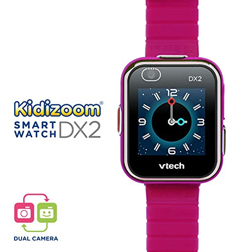 Vtech 80-193847 Kidizoom Smart Watch DX2 - Reloj inteligente para niños con doble cámara, color Frambuesa