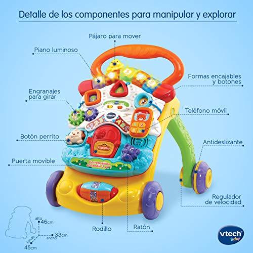 Vtech - Correpasillos Andandín 2 En 1, Diseño Mejorado, Andador Bebé Interactivo Plegable  Versión Española SPB , color/modelo surtido
