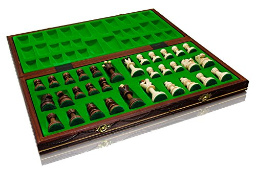 Woodeyland Senator - Ajedrez de Madera (Tablero de 40 x 40 cm)