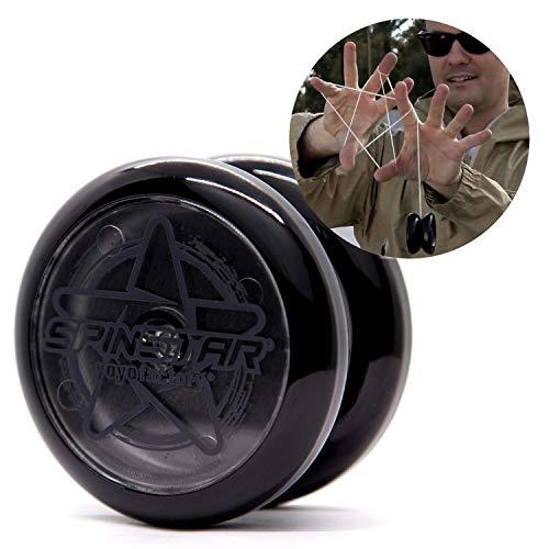 YoyoFactory SPINSTAR Yo-Yo - Negro (Genial para Principiantes, Juego Yoyo Moderno, Cuerda e Instrucciones Incluidas)