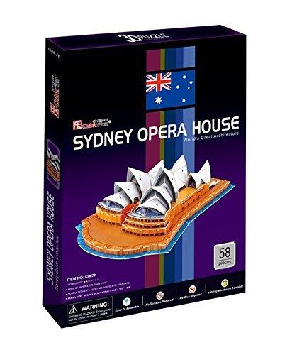 Cubicfun - Puzzle 3D opera de Sydney de 58 piezas (C067h)