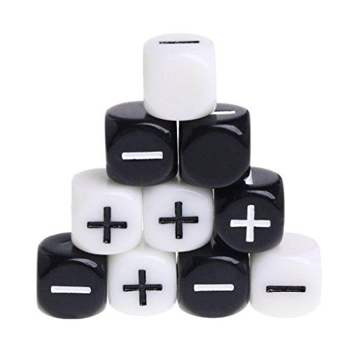 Exing Dados Poliédricos, 10 Pcs 15mm Acrílico Cubo Dados Beads Six Sides Portable Table Games Toy