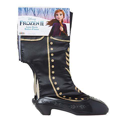 Glop Games- Disney Frozen 2 Anna Travel Boots for Girls Costume or Role Play Dress-Up, Adjustable Botas, Multicolor, Rosa (Jakks 203002-PB)