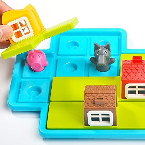 H87yC4ra Juego de Mesa de Rompecabezas para niños, Juguetes de información de Regalo de Rompecabezas de Tres cerditos, Juguetes educativos adecuados para niños en Edad Preescolar