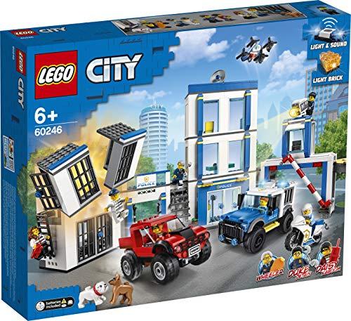 LEGO City Police - Comisaría de policía, juego de construcción, incluye celda de juguete, para niños y niñas a partir de 6 años (60246) , color/modelo surtido
