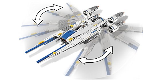 LEGO Star Wars - Figura Rebel U-Wing Fighter, Nave de Juguete para Construir Basado en la Saga de la Guerra de las Galaxias (75155)