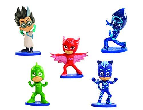 PJ Masks - Pack de 5 figuras (Bandai 24580), surtido: modelos aleatorios