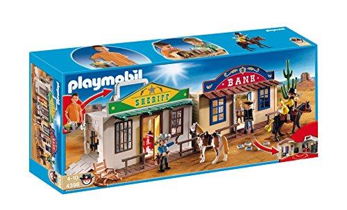 PLAYMOBIL - Ciudad del Oeste, Forma de maletín, Set de Juego (4398)