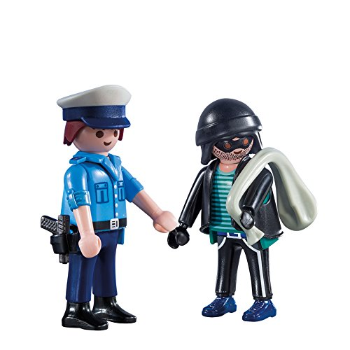 PLAYMOBIL Duo Pack-9218 Policía y Ladrón, Multicolor, única (9218)