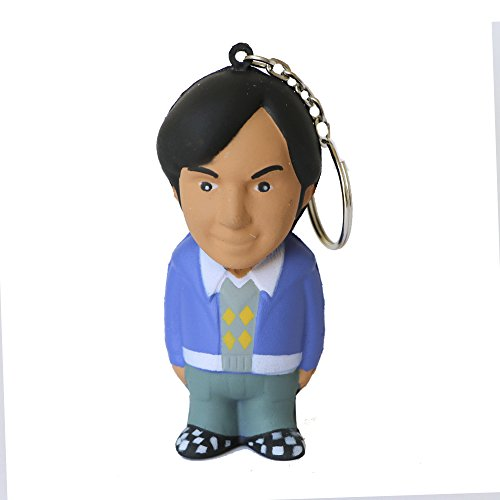 The Big Bang Theory - Rajesh, llavero antiestrés mosquetón, 8 cm (SD Toys SDTWRN89455)