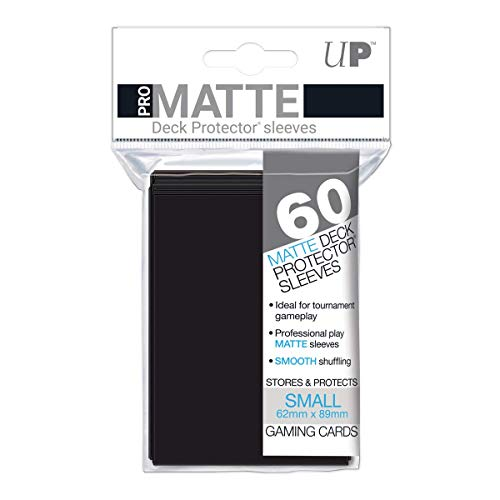 Ultra Pro Matte Tarjeta Mangas (Paquete de 60, Negro)