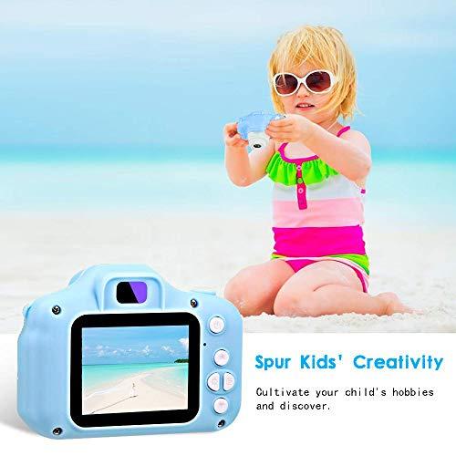 """ZStarlite Cámara Digital para Niños, 1080P 2.0 """"HD Selfie Video Cámara Infantil, Regalos Ideales para Niños Niñas de 3-10 Años, con Tarjeta TF 32 GB, Lector de Tarjetas (Azul)"""