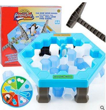 1 juego de pingüino salvador, trampa de pingüino rompiendo hielo juego para niños, juguete educativo interactivo, adecuado para niños mayores de 3 años (fino 25,5 x 25,5 x 6 cm).