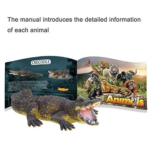 15 Juguetes de animales para niños de 3 4 5 6 años de edad juego salvaje de la selva juguetes educativos de plástico para animales con alfombrilla de juego regalos de fiesta de tigre y león para niños