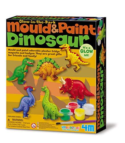 4M 004M3514, Ocio Creativo, Kit de Moldeo con Dinosaurios Fosforescentes