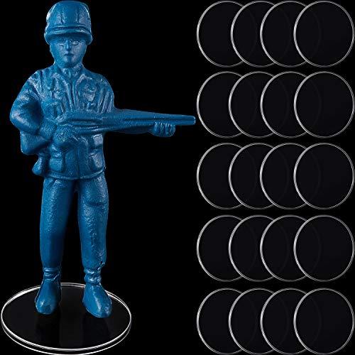 50 Bases de miniaturas Transparentes de 25 mm Accesorios Circulares de Acrílico de Juegos Soportes de Exhibición de Figuras de Acción de Plástico Soporte de Figura Redonda, 1,5 mm de Espesor