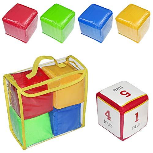 Akemaio DIY Educación Jugar Dados para niños Coloridos Cuadrados de Bolsillo Foto Bolsillos de apilamiento de Espuma de Bolsillo Juguetes educativos